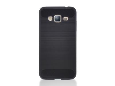 Силиконов гръб Carbon за Samsung Galaxy J3 2016 J320, Черен