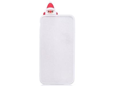 Силиконов Калъф 3D Samsung Galaxy J7 2017 J730 - Santa / White