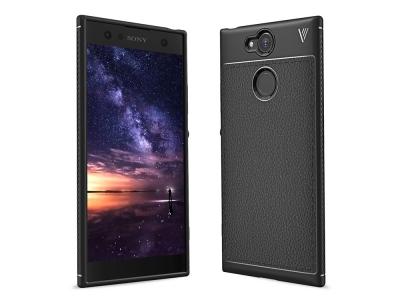 Силиконов гръб Carbon за Sony Xperia XA2, Черен