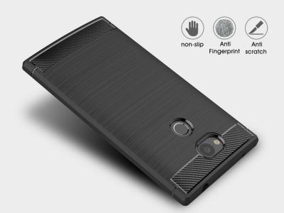 Силиконов гръб Carbon за Sony Xperia L2 , Черен