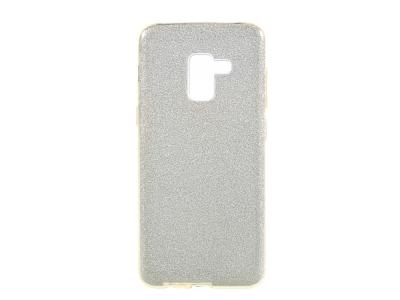 Калъф гръб Hybrid с брокат за Samsung Galaxy A5 2018 / A8 2018, Златист