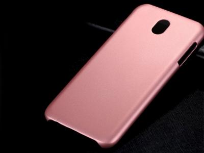 Пластмасов гръб X-LEVEL за Samsung Galaxy J7 2017 J730 , Розов/ Златист