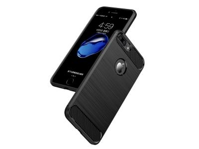 Силиконов гръб Carbon за iPhone 7 Plus / 8 Plus, Черен