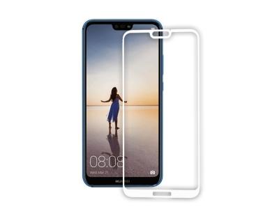 Стъклен Протектор 5D Curved Roar за Huawei P20 Lite , Бял