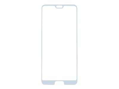 Стъклен Протектор 5D Curved Roar за Huawei P20, Бял
