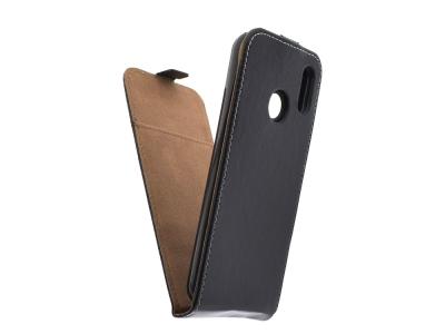 Калъф тефтер Slim Flexy за Huawei P20 Lite, Черен
