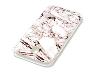 Силиконов гръб Marble за Samsung Galaxy J7 2017 J730 , Бял/ Кафяв