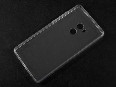 Пластмасов гръб със силиконова лайсна за Xiaomi Mi Mix 2, Прозрачен