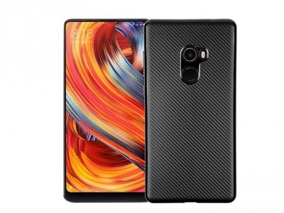 Силиконов гръб Carbon за Xiaomi Mi Mix 2, Черен