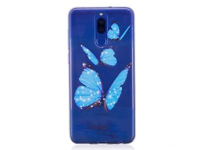 Силиконов Гръб за Huawei Mate 10 Lite/ nova 2i / Maimang 6 / Honor 9i (India) , Сини пеперуди