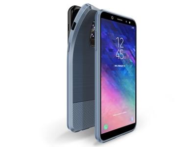 Силиконов гръб MOJO за Samsung A6 Plus 2018, Син