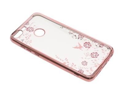 Силиконов гръб Forcell Diamond за Huawei Honor 9 Lite , Розов/ Златист