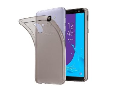Силиконов гръб за Samsung Galaxy J6 2018, Прозрачен/ Черен