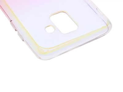 Силиконов гръб OMBRE BLUERAY за Samsung Galaxy A6 2018 A600, Розов/ Златист