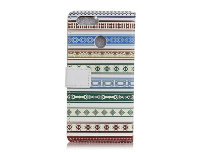 Калъф тефтер Crazy Horse за Huawei Honor 9 Lite , Цветни мотиви