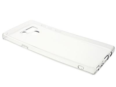 Силиконов гръб за Samsung Galaxy Note 9, Черен/ Прозрачен
