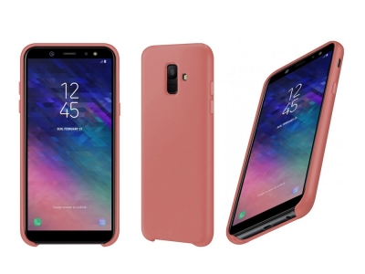 Пластмасов гръб LUX за Samsung Galaxy A6 2018, Розов