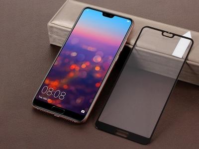 Стъклен Протектор RURIHAI за Huawei P20, Черен