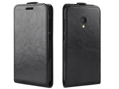 Калъф тефтер за Alcatel U5 (4G Version), Черен