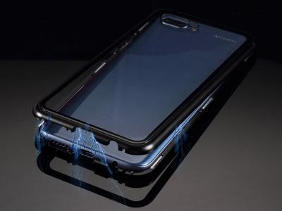 360 Алуминиев магнитен бъмпер за Huawei Honor 10, Черен