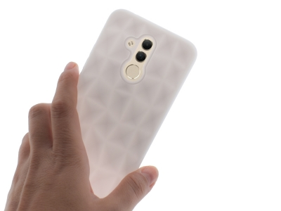 Силиконов гръб PRISM за Huawei Mate 20 lite, Бял