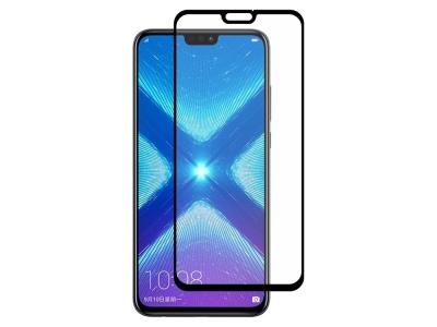 Стъклен Протектор 5D Full Glue за Huawei Honor 8X , Черен