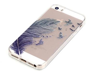 Силиконов Гръб за iPhone SE/5s/5 , Перо