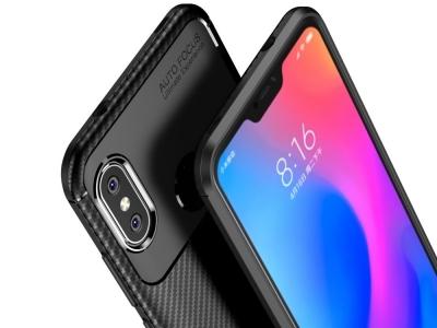 Силиконов гръб Carbon за Xiaomi Mi A2 Lite / Redmi 6 Pro , Черен