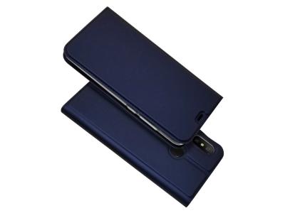Калъф Тефтер ELEGANCE за Xiaomi Mi A2 Lite / Redmi 6 Pro , Тъмно син