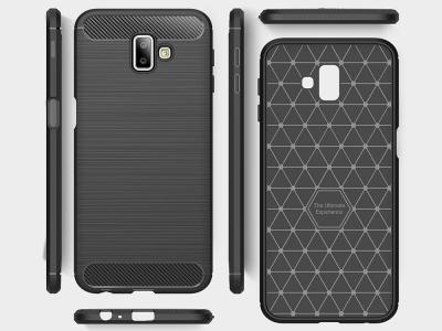 Силиконов гръб Carbon за Samsung Galaxy J6 Plus, Черен