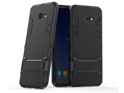 Удароустойчив Калъф с Поставка за Samsung Galaxy J4 Plus , Черен