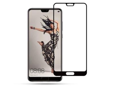 Стъклен Протектор 5D Full за Huawei P20 Pro , Черен