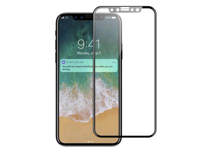 Стъклен протектор 5D Full за iPhone X / Xs / iPhone 11 Pro  , Черен