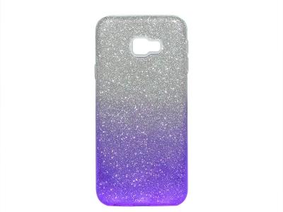 Силиконов Гръб SHINING за Samsung Galaxy J4 Plus (2018) J415, Сребрист/ Лилав
