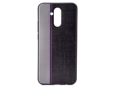 Силиконов гръб Jeans за Huawei Mate 20 Lite, Сив / Черен