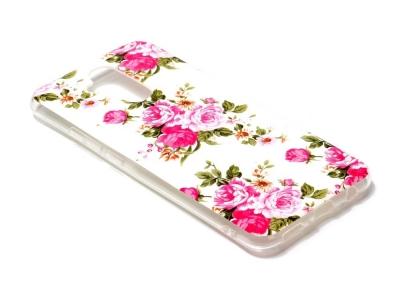 Силиконов гръб за Huawei Mate 20 Lite , Цветя