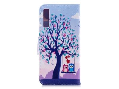 Калъф Тефтер за Samsung Galaxy  A7 (2018) A750 , Цветно дърво