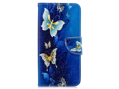 Калъф Тефтер за Samsung Galaxy  A7 (2018) A750, Пеперуди