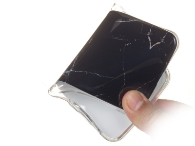 Силиконов Гръб Marble за Samsung Galaxy A7 (2018) A750, Черен