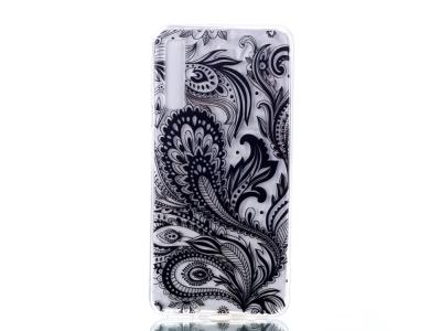 Силиконов Гръб 3D Diamond за Samsung Galaxy A7 (2018) A750, Черно цвете
