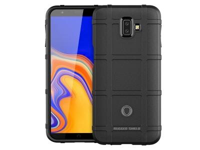 Удароустойчив гръб Grid за Samsung Galaxy J6 Plus , Черен