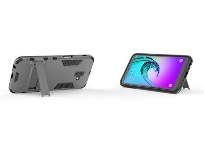 Удароустойчив гръб с Поставка за Samsung Galaxy J6 Plus, Сив