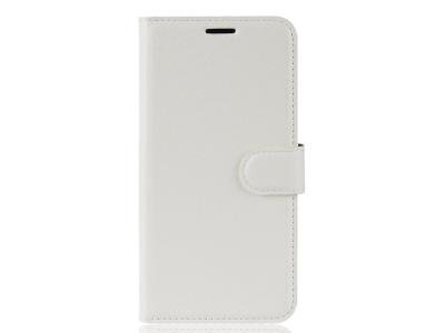 Калъф Тефтер Litchi за Xiaomi Redmi Note 6 Pro, Бял