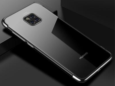 Силиконов гръб CAFELE + Full протектор за Huawei Mate 20 Pro, Черен