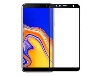 Стъклен Протектор Full Glue 5D за Samsung Galaxy J6 Plus , Черен