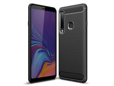 Силиконов гръб Carbon за Samsung Galaxy A9 2018, Черен