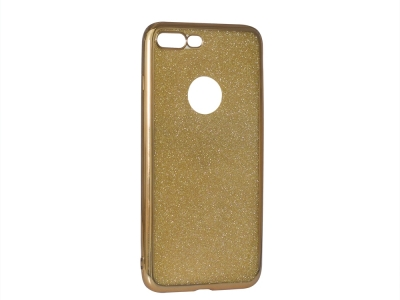 Силиконов Гръб с Брокат iPhone 7 Plus / 8 Plus, Златист