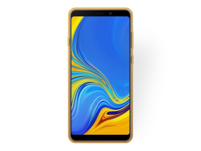 Силиконов Гръб FLOWER за Samsung Galaxy A9 (2018) / A9s, Златист