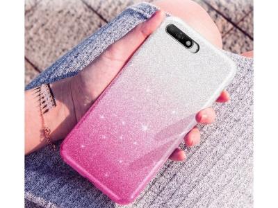 Силиконов Гръб BLING за Huawei Y6 2018, Розов