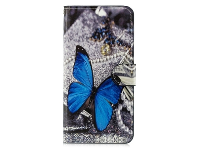 Калъф Тефтер за Xiaomi Mi 8 Lite , Синя пеперуда